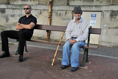 oldManOnBench - Courtesy of