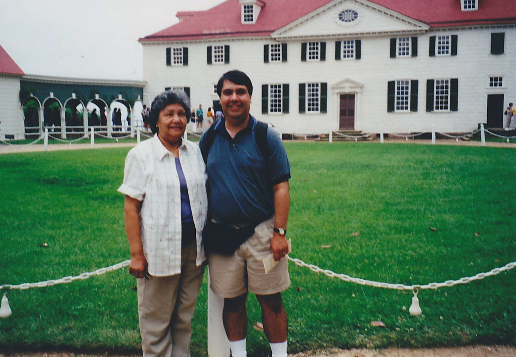 Mom and Ted at Mt Vernon